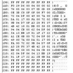 Mazda 323 - B25D57K30A - 24c04dump